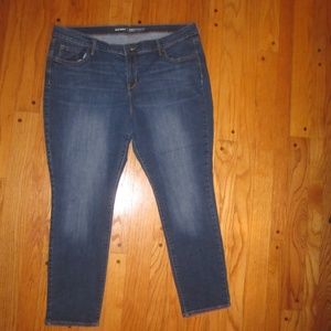 OLD NAVY CURVY PROFILE MID RISE SKINNY JEANS 18 S